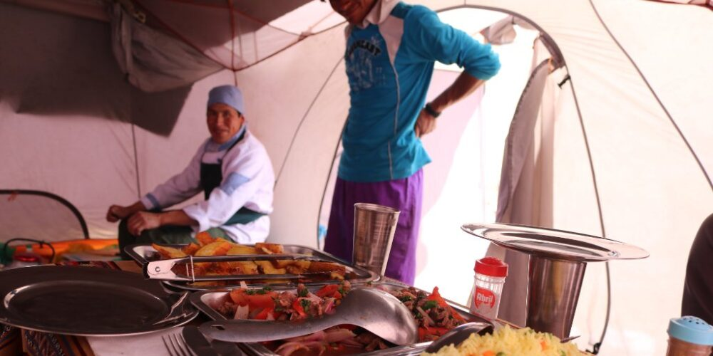 Enjoy Peruvian meals in the mountains and on the Ausangate trek 3 days