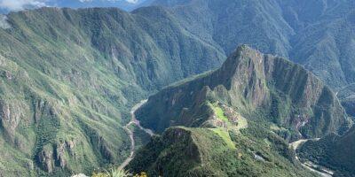 Beautiful view of Machu Picchu from Machu Picchu mountain