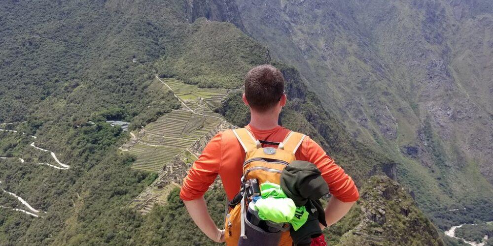Beautiful view to Machu Picchu from the waynapicchu mountain