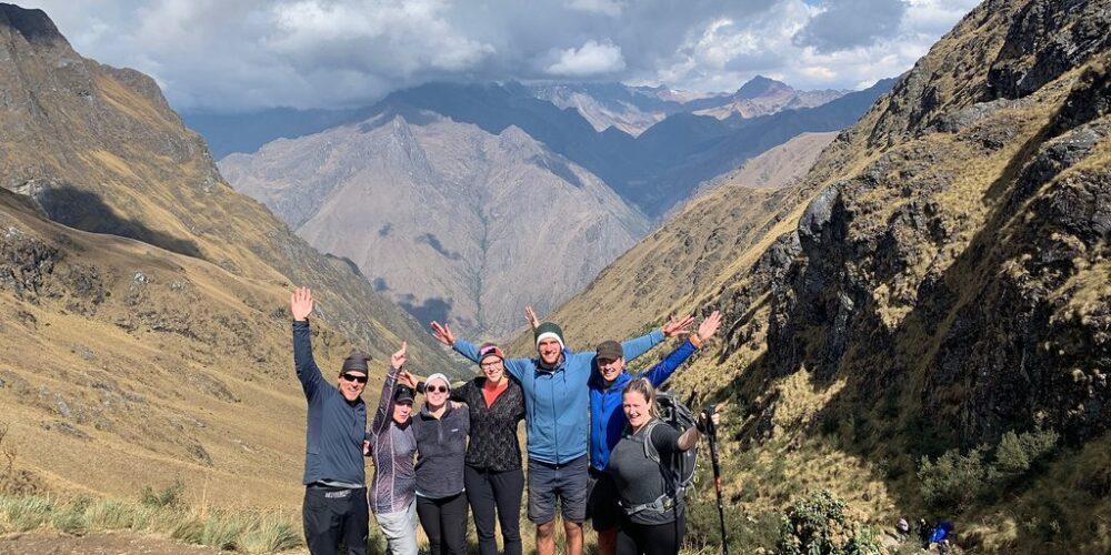 beautiful photo in the warmiwañusca pass on the inca trail hike
