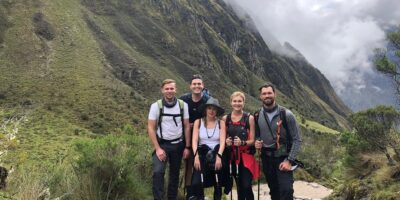 a group of friends is happy to reserve the ancascocha trek 7 days
