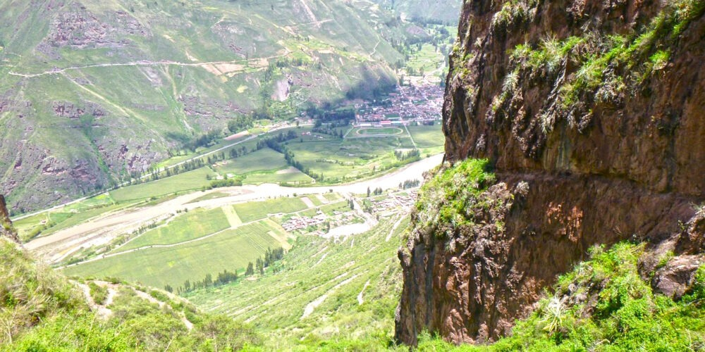 Beautiful view from huchuy qosqo to the sacred valley