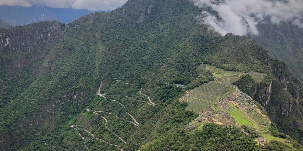 Beautiful view of Machu Picchu from the wayna picchu mountain