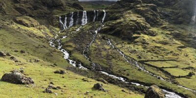 A view from a distance at the 7 waterfalls