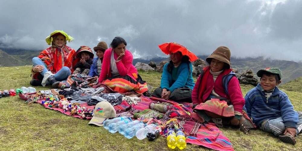 Sale of handicrafts in lares trek 5 days