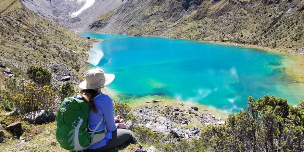 The most famous lagoon called Humantay Lake or Lago Humantay
