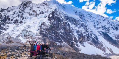 Beautiful view of the salkantay mountain in the salkantay trek 4 days