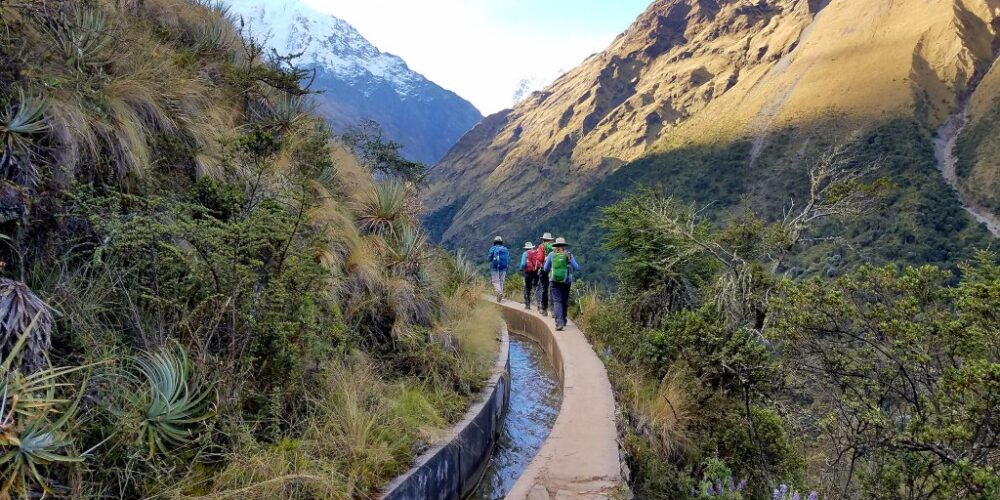 Starting our salkantay trek 4 days