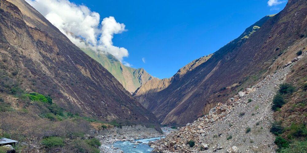 TrBeautiful view of the Apurimac river in the Choquequirao trek 4 days