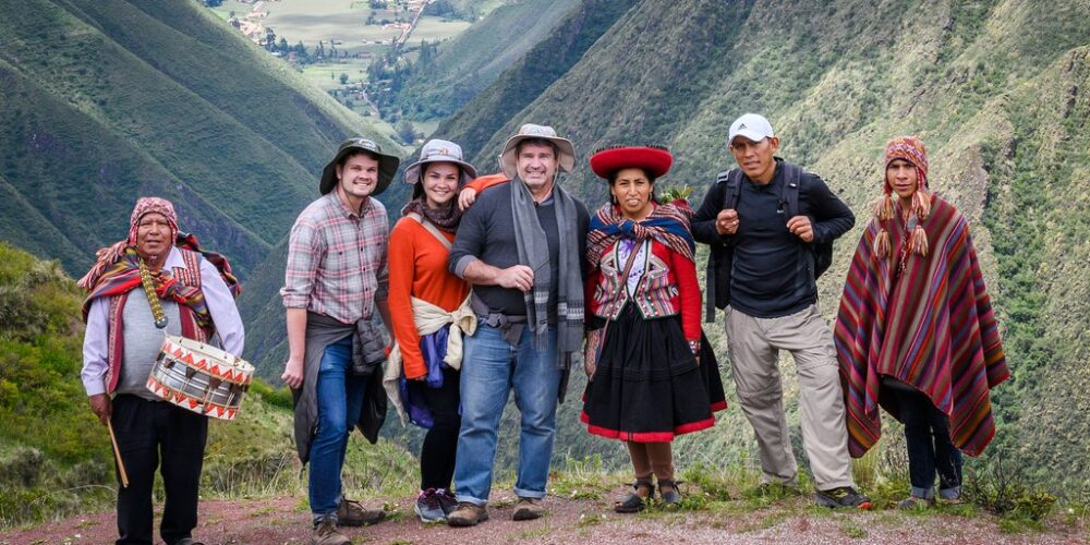 huchuy qosqo has many impressive landscapes and culture here a photo with friends