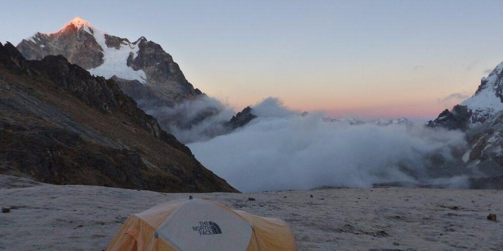 Satisfactory camp on the Ancascocha trek 5 days