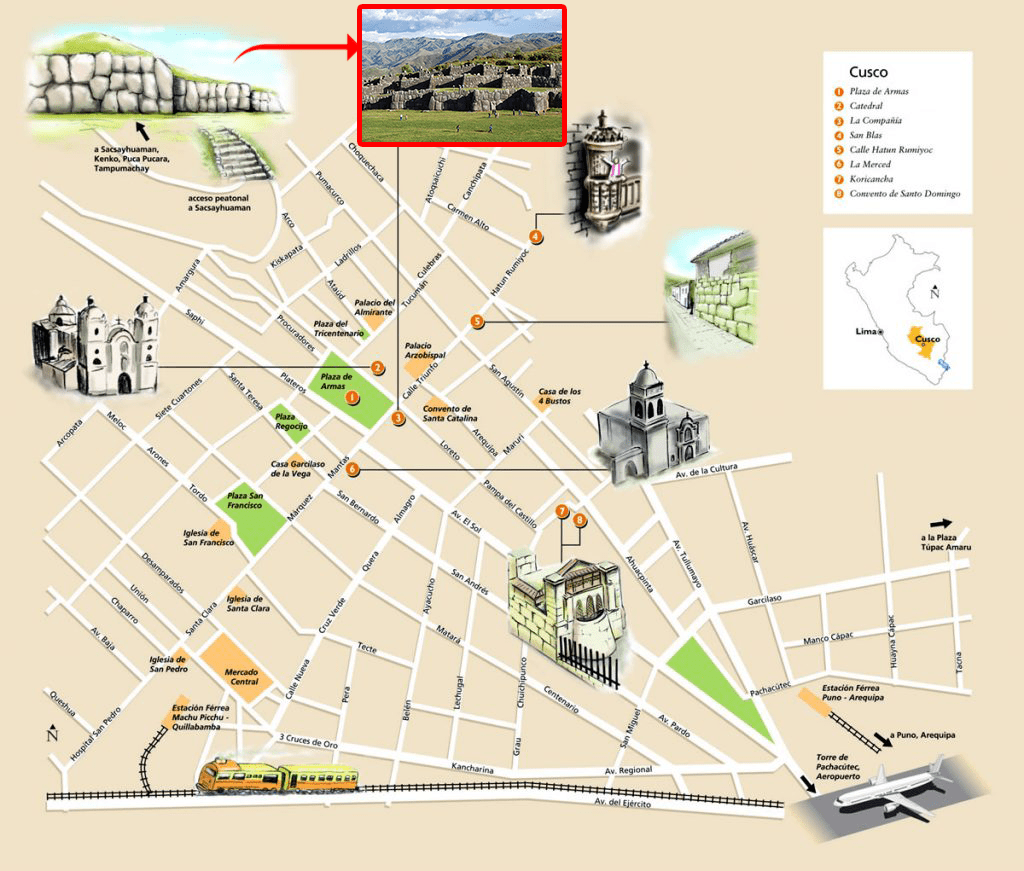 Sacsayhuaman Maps