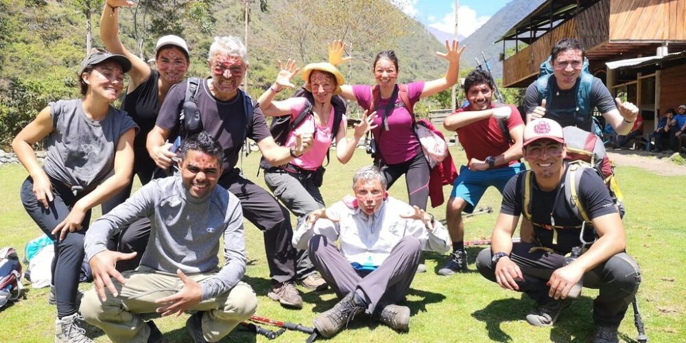 our groups happy and with a lot of energy to continue with the salkantay trek 8 days
