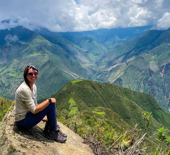 From this point we still have a view of the Choquequirao archaeological complex.