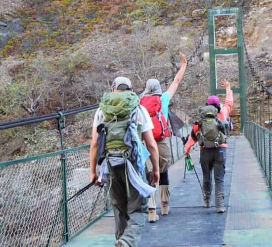 we go through a bridge called rosalina before reaching Choquequirao