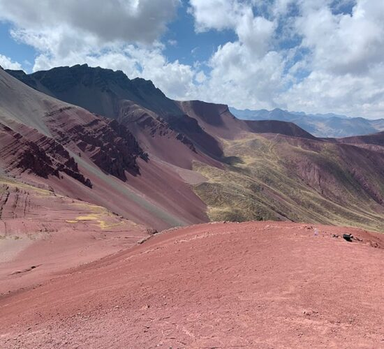 the red valley is one of the most beautiful places in Peru