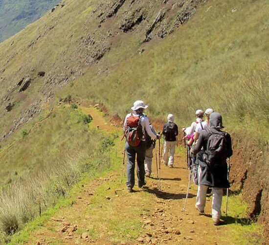 walking with the group to Choquequirao.