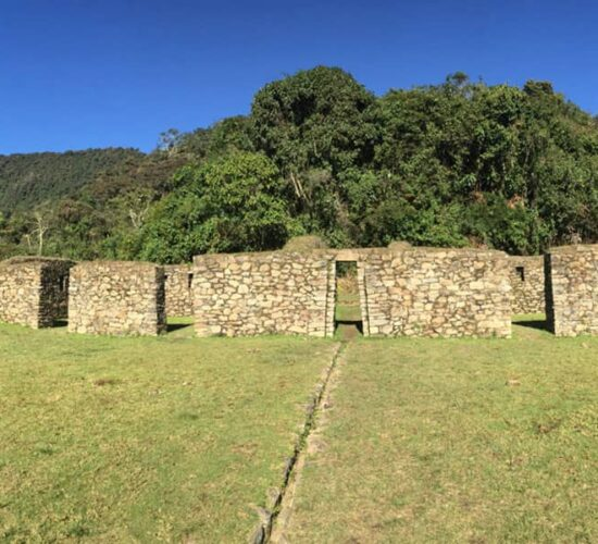 In the Choquequirao trek 8 days we also arrive at the Llactapata archaeological complex