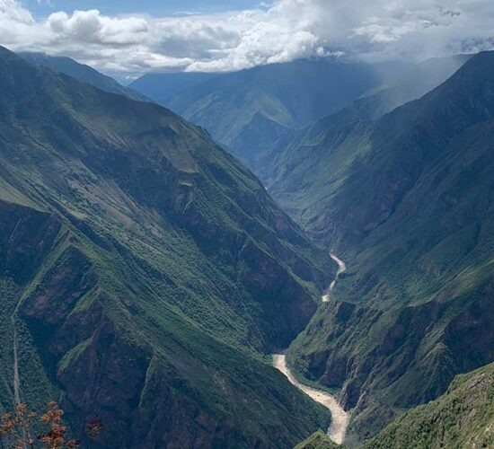 a look from marampata to the apurimac canyon before reaching Choquequirao