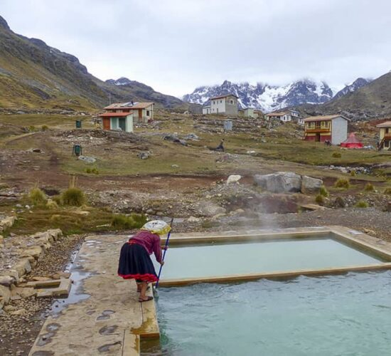 on the ausangate trek you can also enjoy the thermal baths in pacchanta