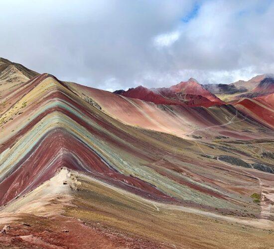 Beautiful view of rainbow mountain