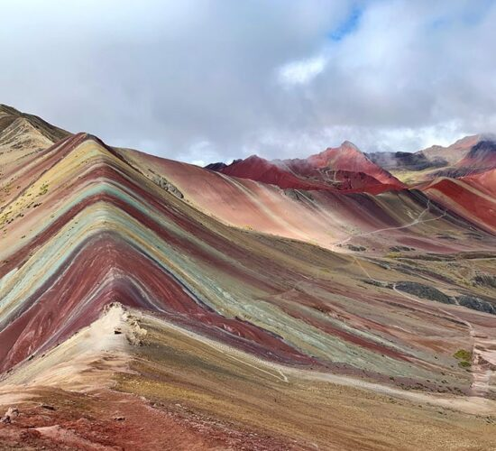 A beautiful view of the rainbow mountain