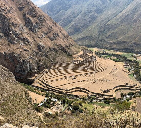 On the Ancascocha walk we will enjoy this view of the Llactapata archaeological complex