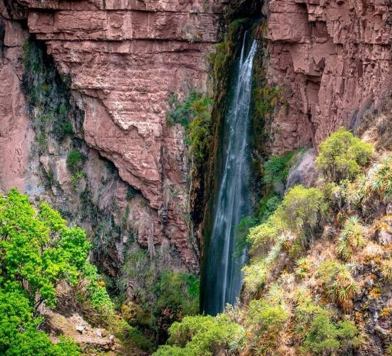 the ancascocha trail offers us a visit to Perolniyoc waterfall