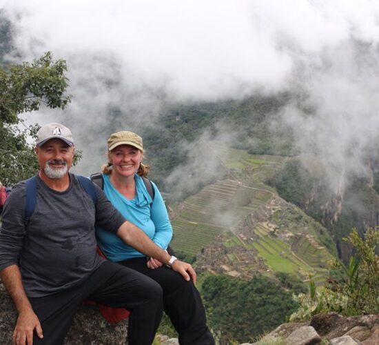 Beautiful sunrise in Machu Picchu