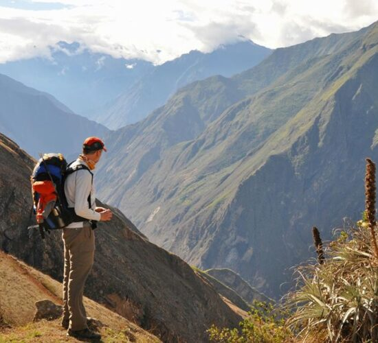 a look at the apurimac canyon before starting the Choquequiro trek 4 days