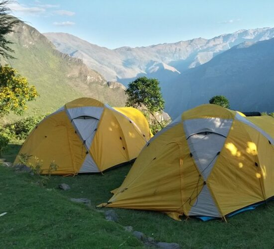 our camp on the Choquequirao trek 4 days