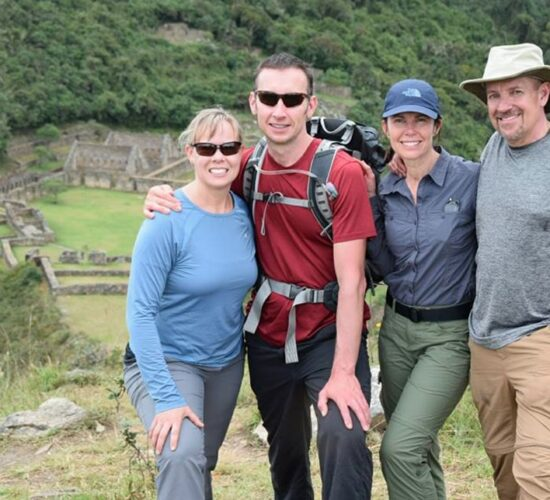 a beautiful photo in Choquequirao our passengers very happy