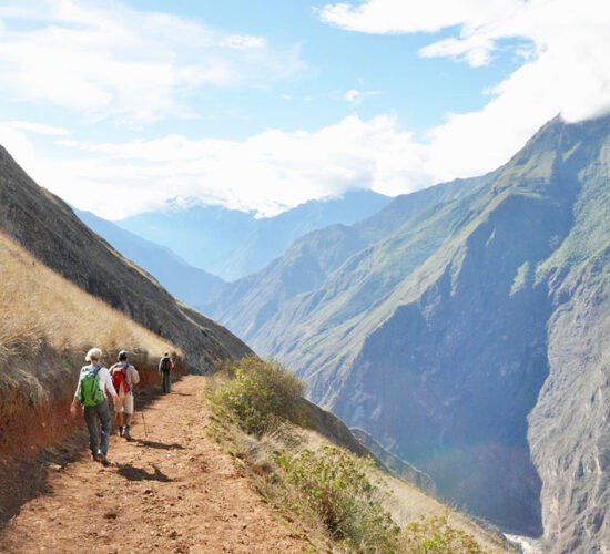 beautiful trek to Choquequirao with deep canyons and beautiful landscapes