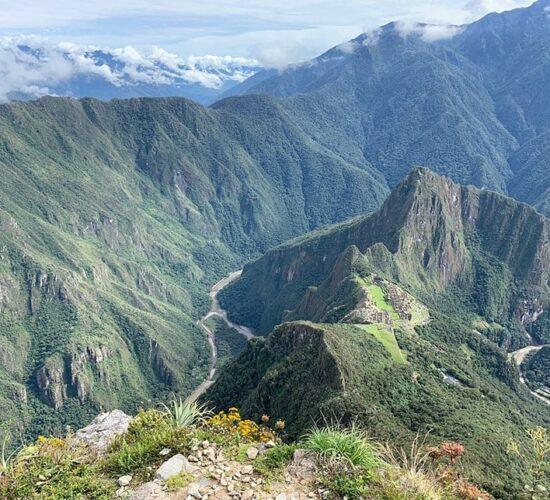 Beautiful view from Machu Picchu mountain