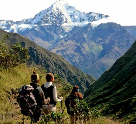 ancascocha trail offers you views of snowy mountains a beautiful adventure