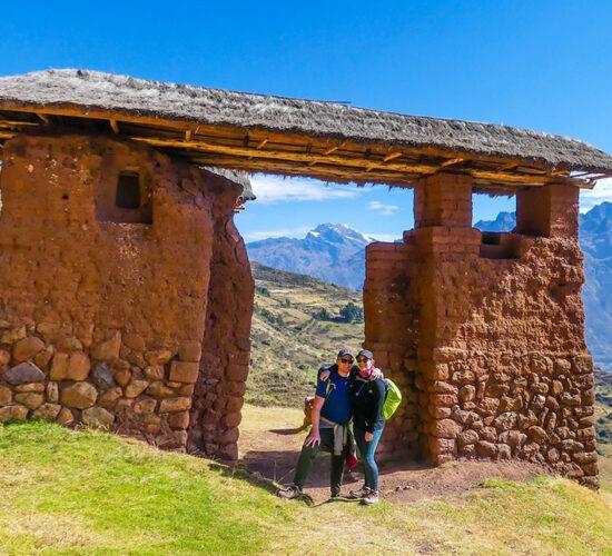 the entrance door to huchuy qosqo a beautiful photo before arriving at the inca city huchuy qosqo