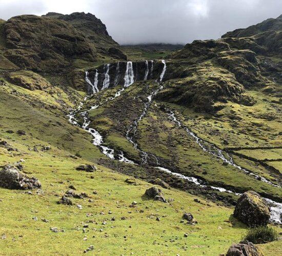 seven waterfalls Lares Trek 3 days