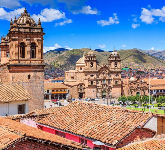 Cusco the imperial city beautiful cathedrals and beautiful squares