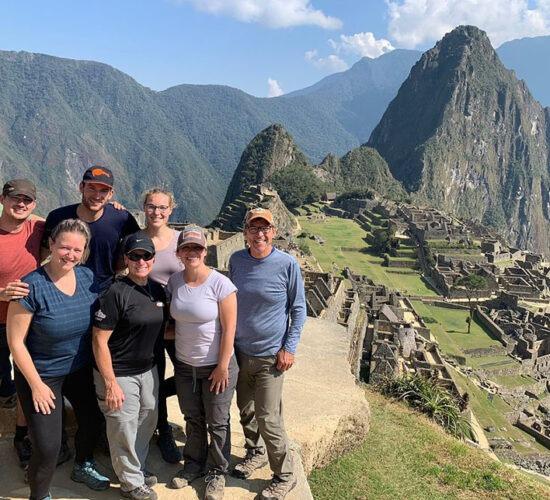 Machu Picchu a family group photo