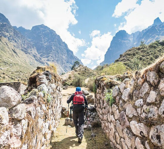 beautiful views and beautiful landscapes on the lares hike 6 days