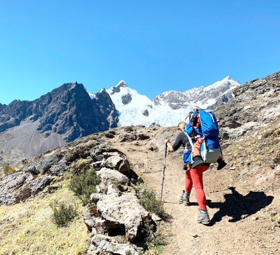 in the lares trek 6 days you will see snowy mountains and beautiful landscapes