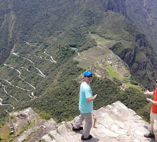 showing the Inca city Machu Picchu.
