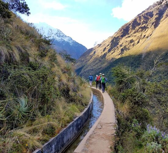 in the Inca channel our salkantay trek begins 8 days