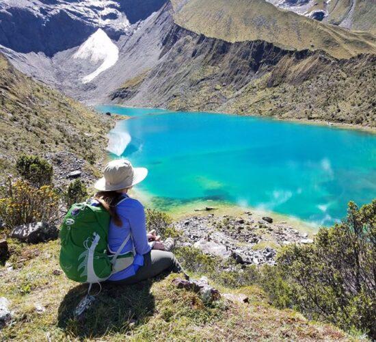 Humantay Lakethe salkantay trail 8 days will take us to the most famous lagoon called Humantay lake