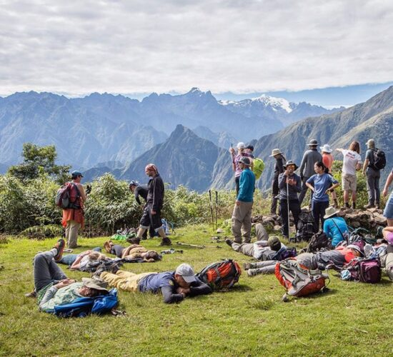 the salkantay trek 8 days took us to the llactapata archaeological center.
