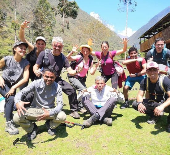 our group of passengers are very happy painted their faces, salkantay trek 3 days is fun.